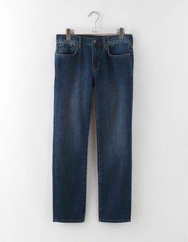 Mid Wash Denim Slim Leg Jeans