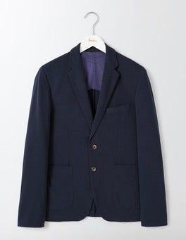 Classic Navy Brunel Piqué Blazer