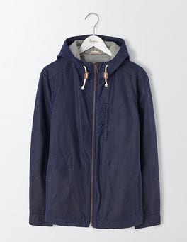 Navy Dulwich Waxed Jacket