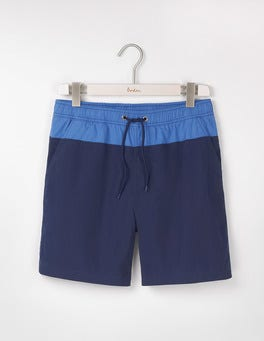 Navy Colourblock Swimshorts