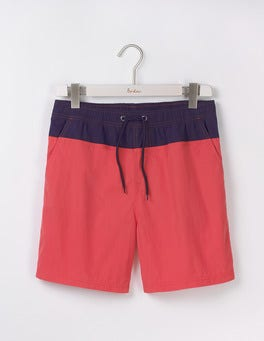Soft Red Colourblock Swimshorts