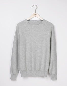 Light Grey Slub Burnet Slub Crew Neck