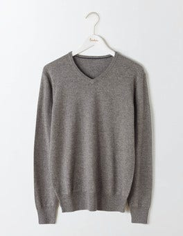 City Grey Marl Linden V-Neck