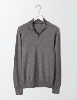 City Grey Marl Linden Half-Zip