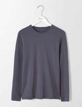 London Grey Long Sleeve Washed T-shirt