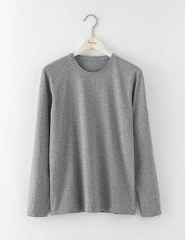 Grey Marl Long Sleeve Washed T-shirt
