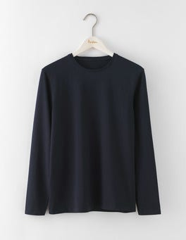 Navy Long Sleeve Washed T-shirt
