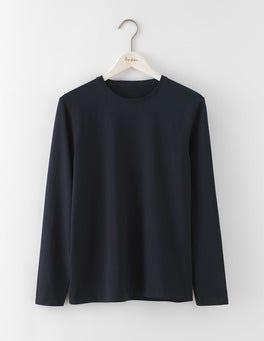 Navy Long Sleeve Washed T-shirt