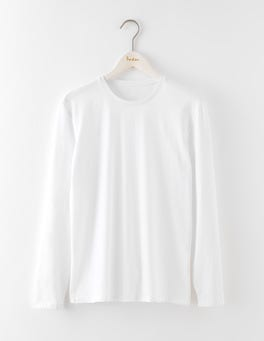 White Long Sleeve Washed T-shirt