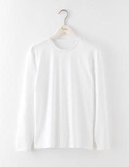 White Long Sleeve Washed T-Shirt