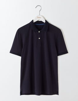 Classic Navy Piqué Polo