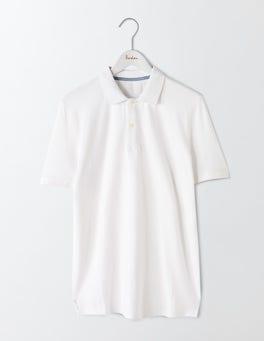 White Piqué Polo