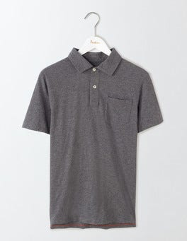 Charcoal Marl Slub Polo