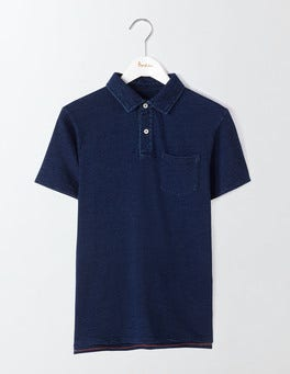 Dark Indigo Slub Polo