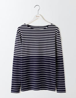 Navy/Ecru Engineered Stripe Breton Mariner