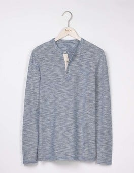 Royal Marine Feeder Stripe Long Sleeve Slub Henley