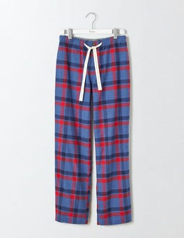 Blue Marl/Red Check Brushed Cotton Pull-ons