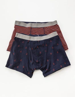 Navy/Vermillion Mix Pack 2 Pack Jersey Boxers
