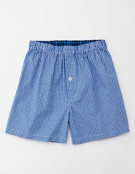 Blueberry Mini Gingham Woven Boxers