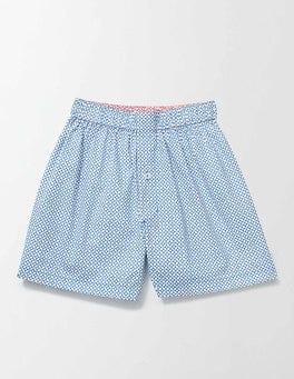 Blue Geo Woven Boxers