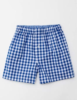 Blue Gingham Woven Boxers
