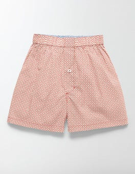 Red Geo Woven Boxers