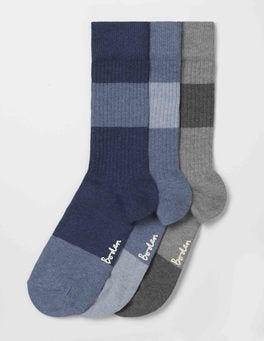 Stripe Colourblock Pack Off-Duty Socks