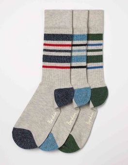 Stripe Twist Pack Off-Duty Socks