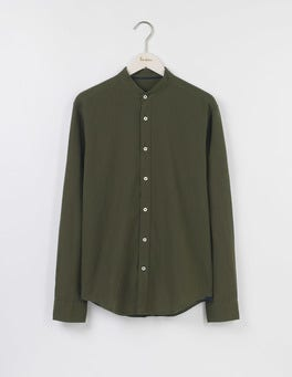 Linen Cotton Grandad Shirt