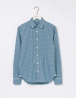 Rosemary Gingham Slim Fit Garment Dye Shirt