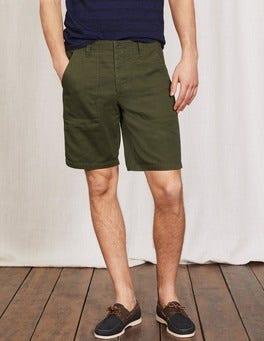 Dark Olive Utility Shorts