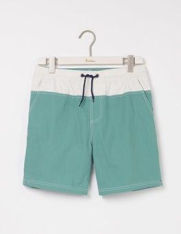 Minty Green Colourblock Swimshorts