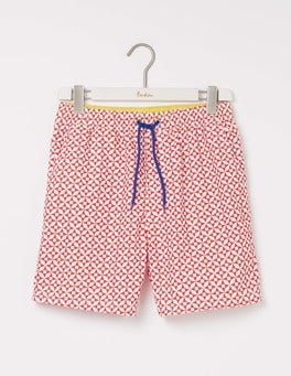 Vermillion Geo Swimshorts