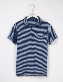Washed Indigo/ Ecru Slub Polo
