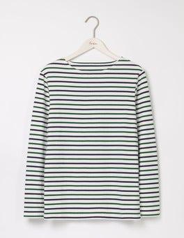 Ecru/Navy/Green Breton Mariner