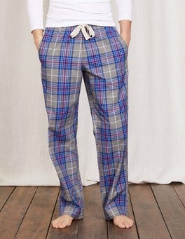 Grey Check Cotton Poplin Pull-ons