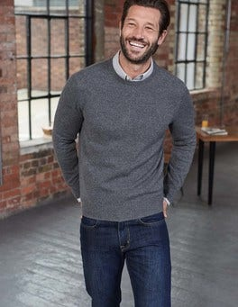 Grey Cashmere Crew Neck