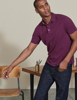 Blackcurrant Casual Piqué Polo