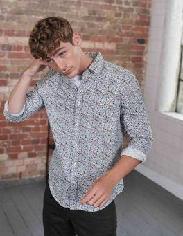 Multi Ditsy Floral Printed Twill Shirt