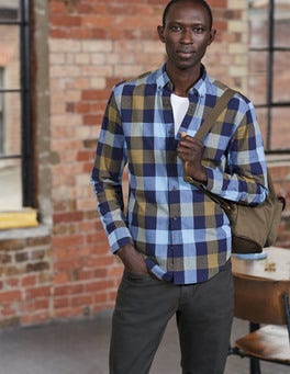 Slim Fit Casual Pattern Shirt