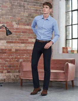Blues Multi Gingham Slim Fit Poplin Pattern Shirt
