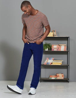 Space Blue Straight Leg Cord Jeans