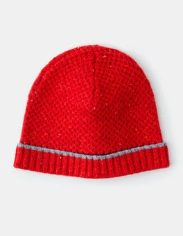 Red Donegal Merino Woolly Hat