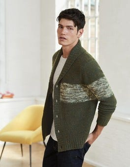 Forest Block Stripe Bamburgh Cardigan