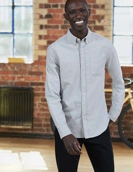 Grey Marl Mini Spot Slim Fit Marl Shirt
