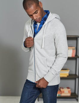 Pale Grey Marl Off-Duty Hoody