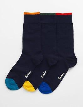 Plain Navy Pack Favourite Socks