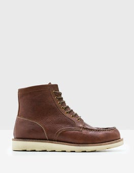Brown Leather Leather Chukka Boots