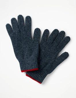 Navy Twist Cashmere Gloves