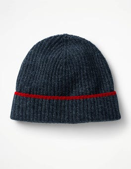 Navy Twist Cashmere Hat